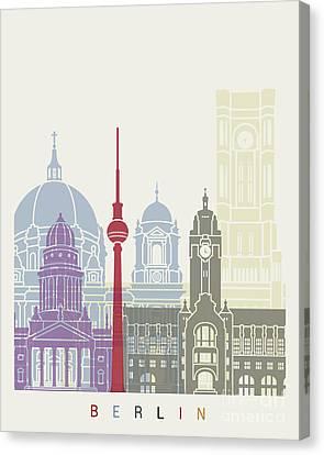 Berlin Skyline Poster Canvas Print by Pablo Romero