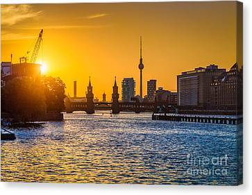 Berlin Sunset Canvas Print by JR Photography