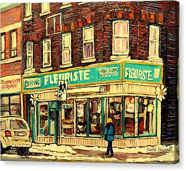 Bernard Florist Canvas Print by Carole Spandau