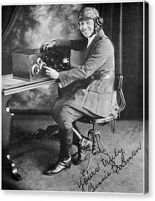 Bessie Coleman, Us Aviation Pioneer Canvas Print by Schomburg Centernew York Public Library