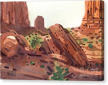 Between The Buttes Canvas Print by Donald Maier