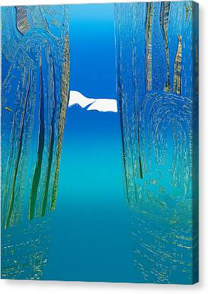 Between Two Mountains. Canvas Print by Jarle Rosseland
