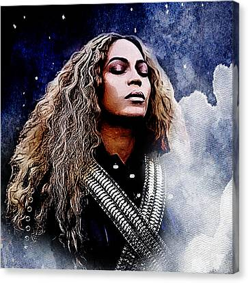 Beyonce  Canvas Print by The DigArtisT