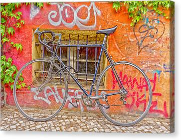 Bicycles Canvas Print by Uri Baruch