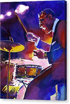 Drummer Canvas Print - Big Band Ray by David Lloyd Glover