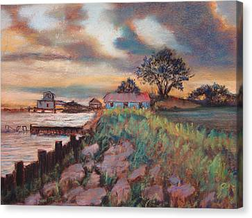 Canvas Print featuring the painting Big Lake by AnnE Dentler