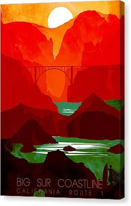 Big Sur Coastline Abstract Landscape 2 - By Diana Van Canvas Print by Diana Van