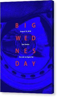 Big Wednesday 2016 Canvas Print by Ron Regalado