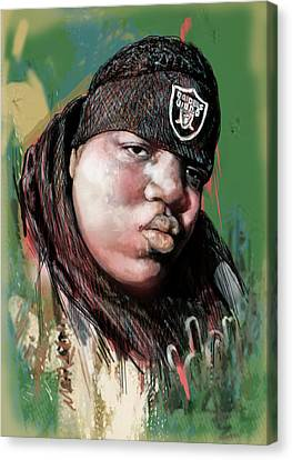 Biggie Smalls Modern Art Drawing Poster Canvas Print by Kim Wang
