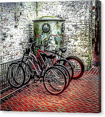 Rack Canvas Print - Bike Rack by Dayton Preston