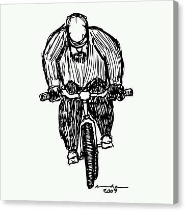 Biking Man Canvas Print by Karl Addison