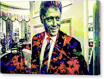 Bill Clinton Canvas Print by Svelby Art