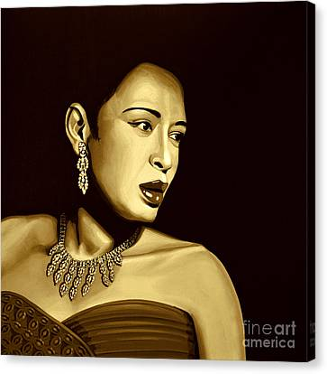 Billie Holiday Canvas Print by Meijering Manupix