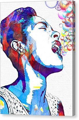 Basie Canvas Print - Billie Holiday by Vel Verrept