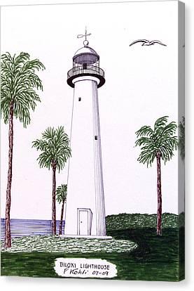 Biloxi Lighthouse Canvas Print by Frederic Kohli