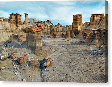 Canvas Print featuring the photograph Bisti Wilderness Hoodoos by Alan Toepfer