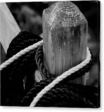 Black And White Canvas Print by Corinne Rhode