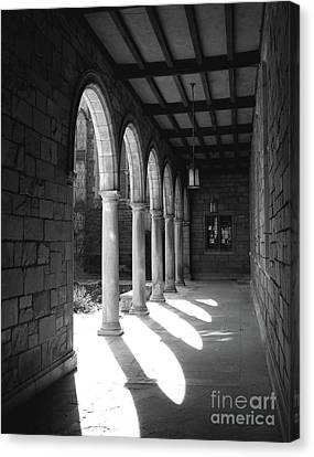 Black And White Pillars Canvas Print by Phil Perkins