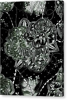 Canvas Print - Black Flower by Theresia Kwee