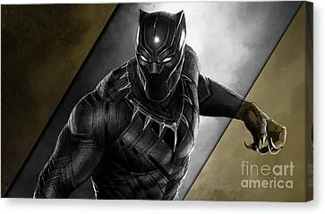 Black Panther Collection Canvas Print by Marvin Blaine