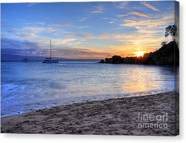 Black Rock Sunset Canvas Print