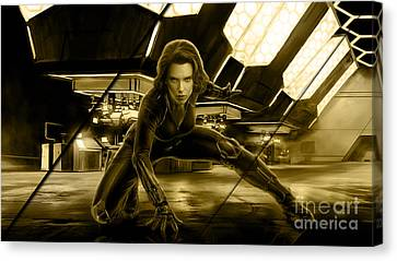 Black Widow Collection Canvas Print by Marvin Blaine