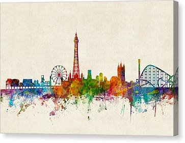 Blackpool England Skyline Canvas Print