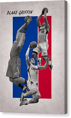 Blake Griffin Los Angeles Clippers Canvas Print by Joe Hamilton