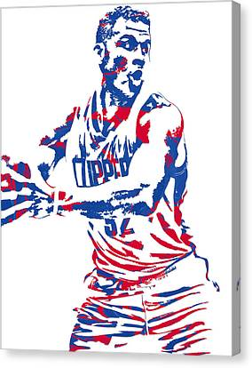 Los Angeles Clippers Canvas Print - Blake Griffin Los Angeles Clippers Pixel Art 4 by Joe Hamilton