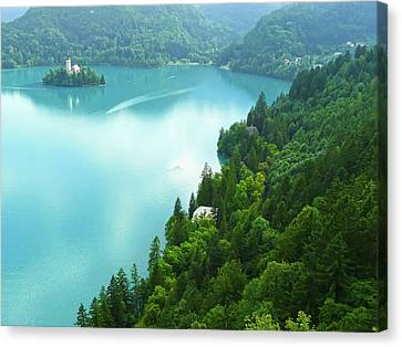 Bled Canvas Print by Daniel Csoka