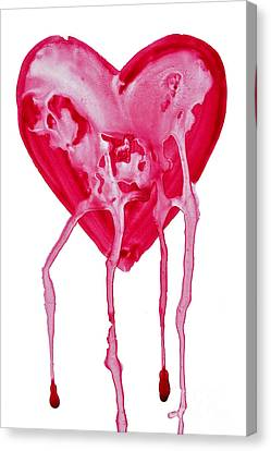 Bleeding Heart Canvas Print by Michal Boubin