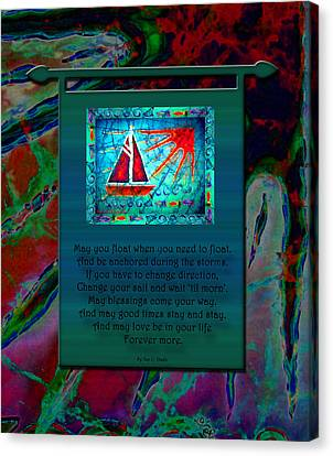 Blessings 2 Canvas Print by Sue Duda