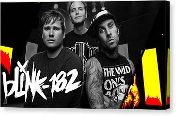 Blink 182 Collection Canvas Print by Marvin Blaine