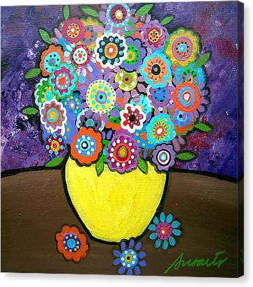 Blooms 6 Canvas Print by Pristine Cartera Turkus