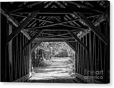 Blow Me Down Covered Bridge Cornish New Hampshire Canvas Print by Edward Fielding