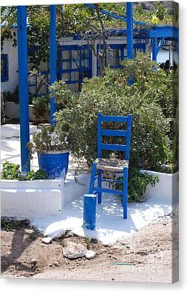 Blue Chair Canvas Print by Andrea Simon
