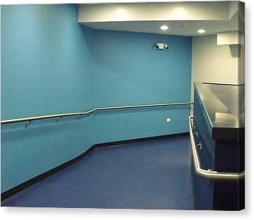 Canvas Print - Blue Corridor by Anna Villarreal Garbis