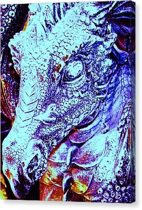 Blue-dragon Canvas Print by Ramon Labusch