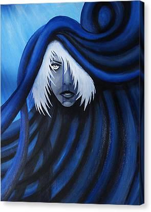 Blue Canvas Print by Edwin Alverio