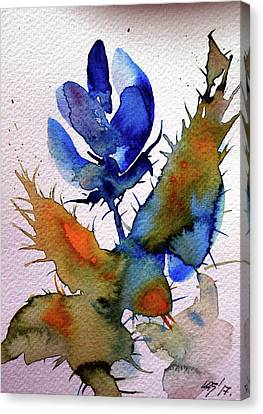 Blue Flowers Canvas Print by Kovacs Anna Brigitta