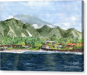 Canvas Print featuring the painting Blue Lagoon Bali Indonesia by Melly Terpening