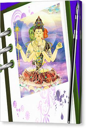 Blue-neck Kuan Yin Canvas Print