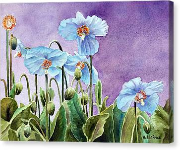 Blue Poppies Canvas Print by Bobbi Price