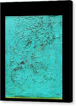 Aqua Blue And Green No 11 Oil On Board 16 X 20  Canvas Print by Radoslaw Zipper