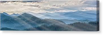 Blue Ridge Sunrise Canvas Print by Jon Glaser