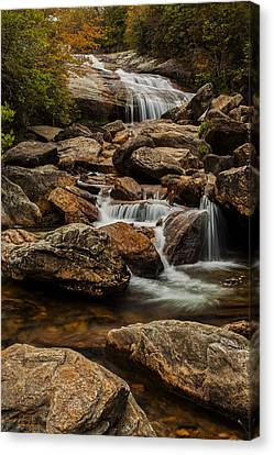 Blue Ridge Waterfall Canvas Print by Andrew Soundarajan
