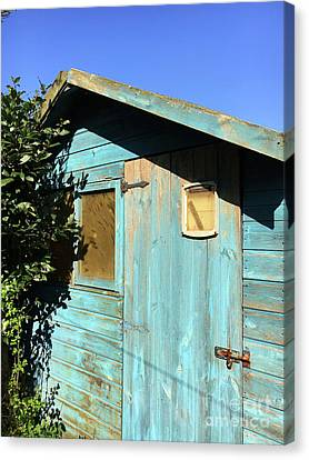 Blue Shed Canvas Print by Tom Gowanlock