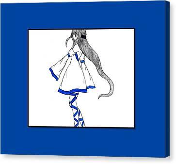 Blue Swirl Canvas Print by Jessica L Renner