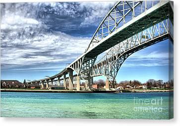 Blue Water Bridge Canvas Print by Joe  Ng