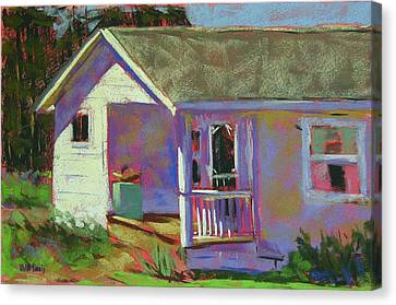 Blue Willow Farmers House Canvas Print by Mary McInnis